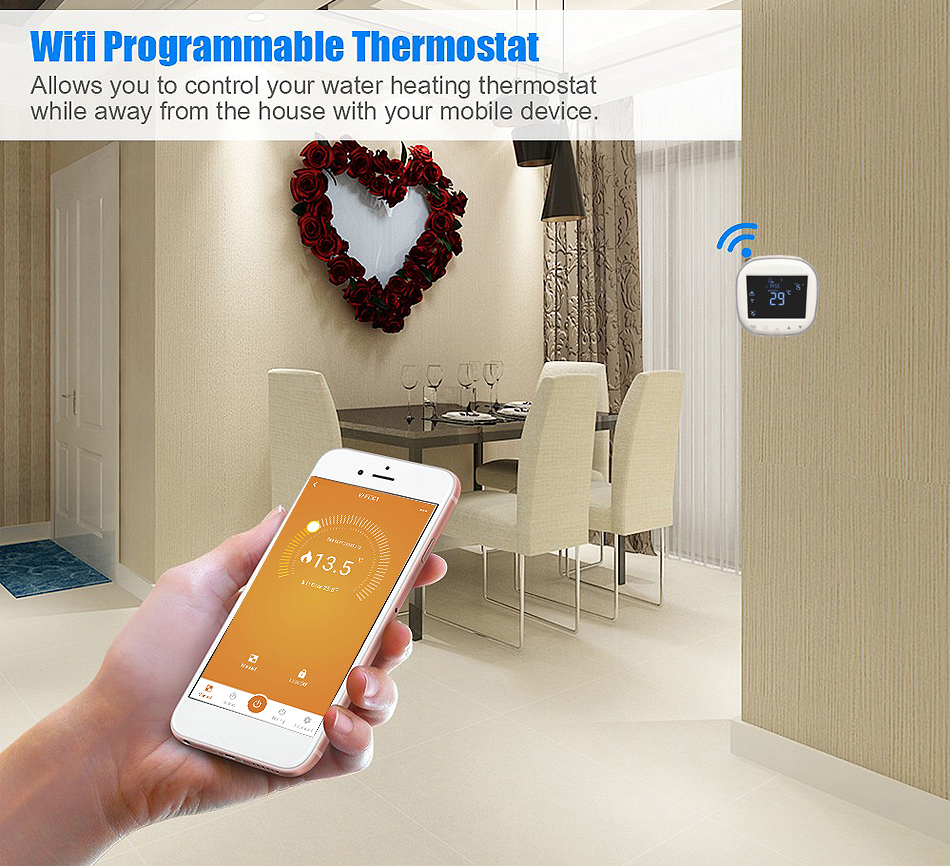 HY311WE-2-WIFI Multi languages OEM/ODM Smartphone APP wifi thermostat with voice control