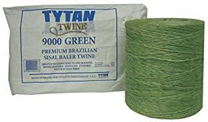 TYTAN INTERNATIONAL LLC Tytan International SBT72GRTY Baler Twine, Green Sisal, Two 3,600-Ft. Spools - Quantity 60