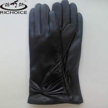 Winter women leather gloves ladies leather gloves