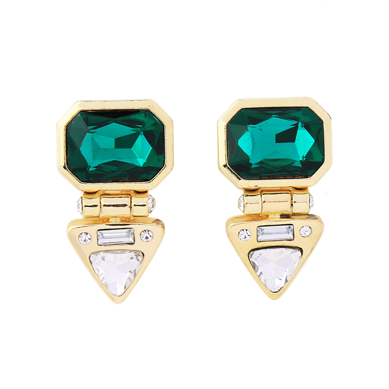 Green Glass Bali Earrings Designs Fashion Accessories Earrings <strong>Jewelry</strong> For Women