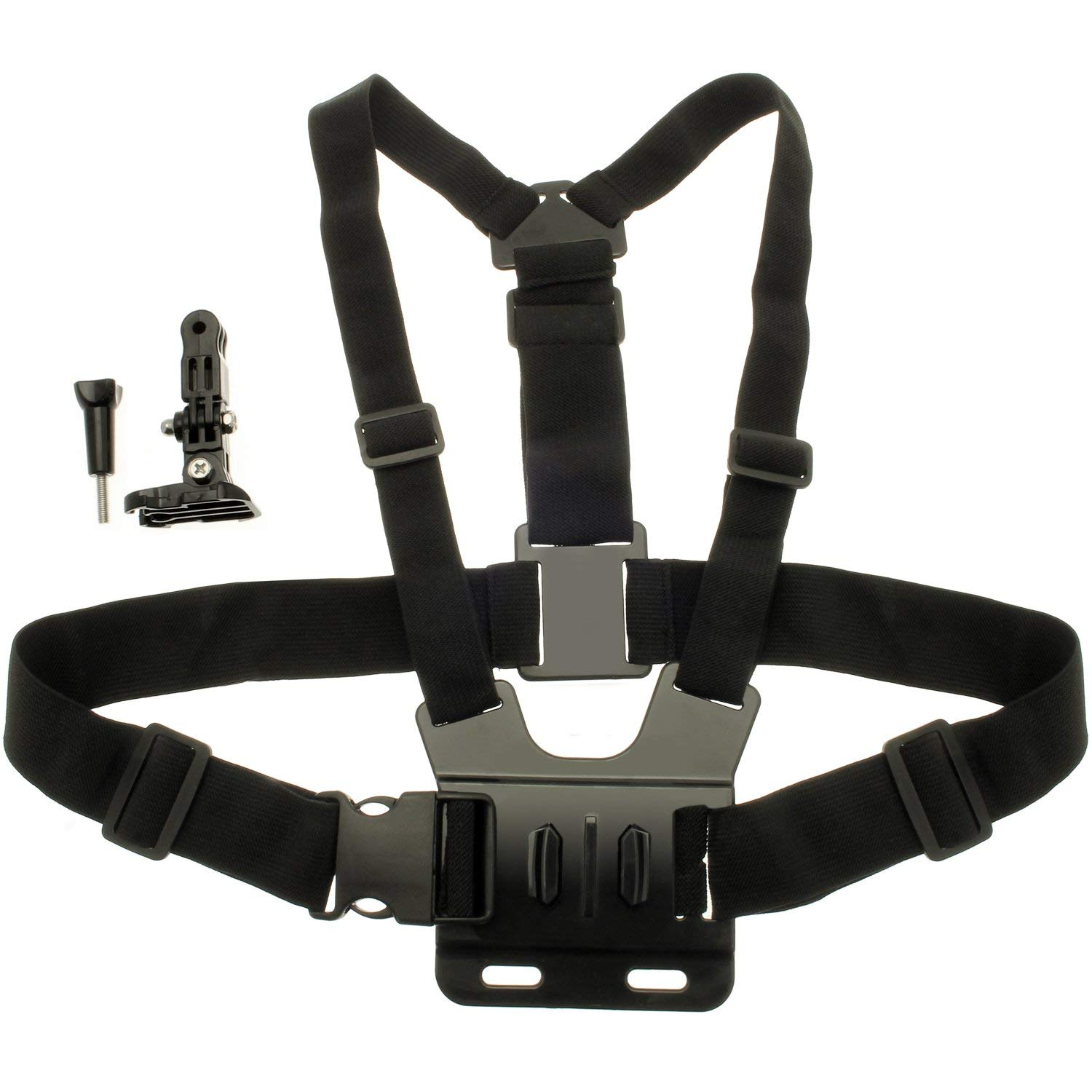 DURAGADGET Adjustable Chest Harness Mount with Quick Release Buckle Compatible with Camsports Evo 1080 Pro