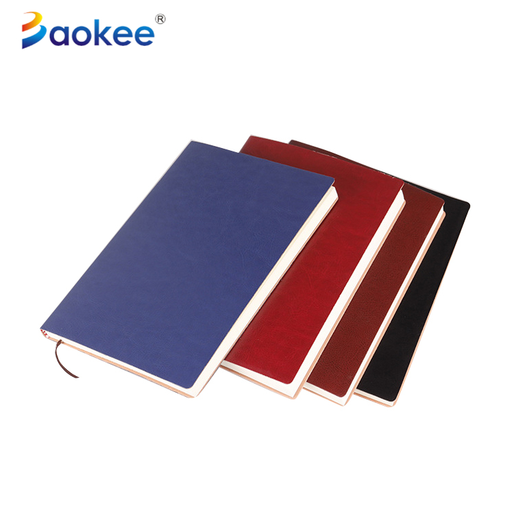 Customized colorful PU business notebook PU leather notepad