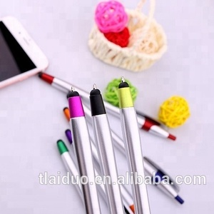 Alibaba Promotional Raw Material Latest Design Good Quality Discount Price Ballpoint Logo Pen With stylus Screen Cleaner