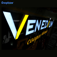 outdoor plexiglass material company shop led signboard