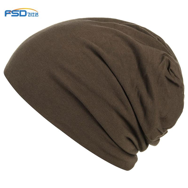 Unisex Lightweight Custom jersey Beanie Sleep hat Super Soft Knit Slouchy satin lining bamboo fabric