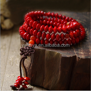 natural red jequirity Bodhi Seed Mala 108 bodhi beads for Meditation