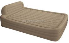 Twin single high air bed flocked air bed mattress