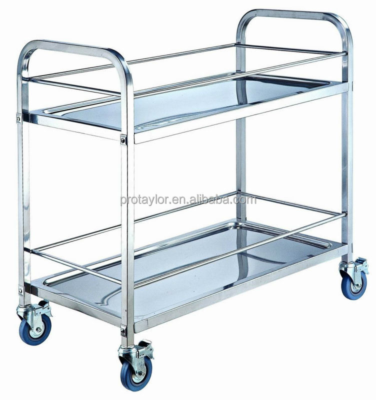 Square Folding Four Tier Food Trolleys/dining Cart(FR L4)