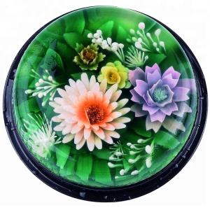Cake decoration food grade colorful diy different 10pcs stainless steel flower 3d jelly art tools