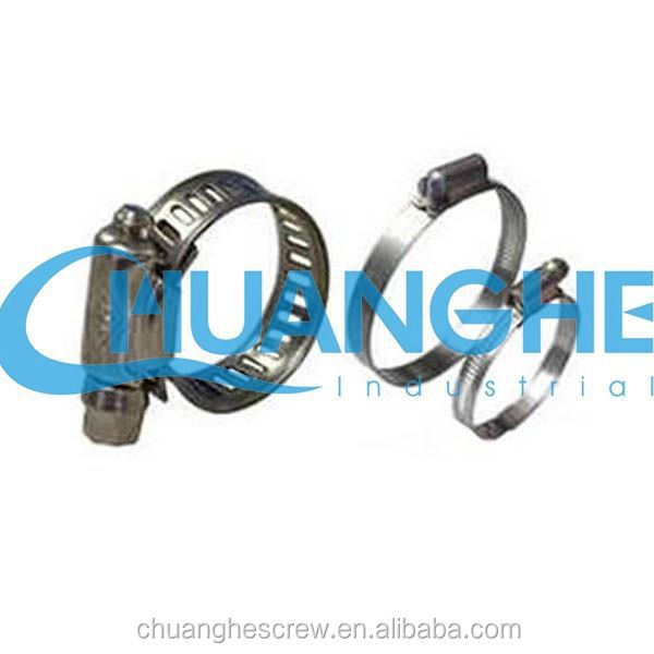 english type hose clamp with tube housing