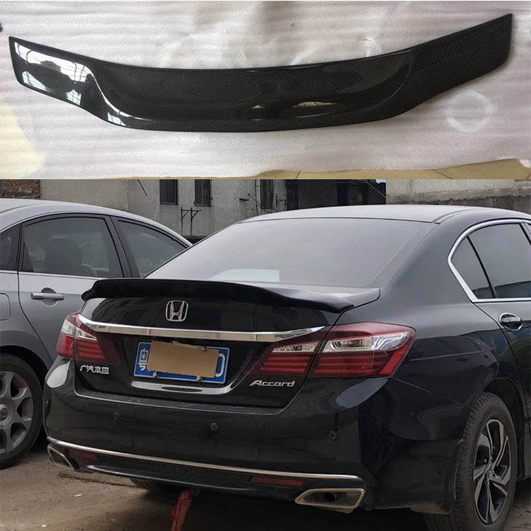For Honda Accord 9th 9.5 R Style Carbon Fiber Rear Trunk Boot Spoiler 14-17