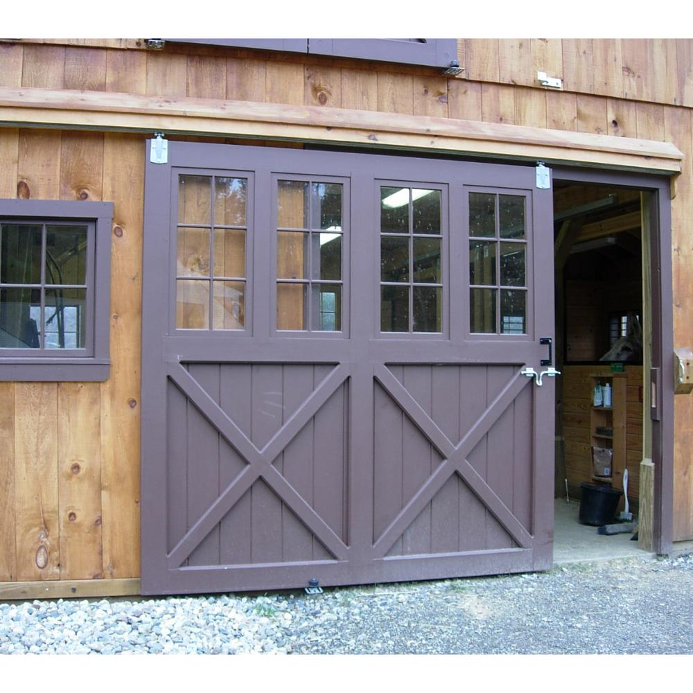 Modern style interior barn door track hardware sliding for Sliding barn doors for patio