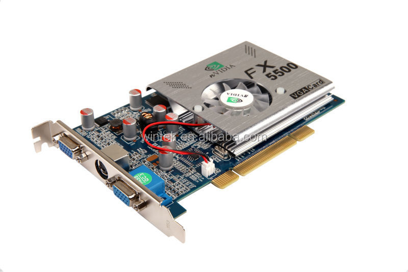 Geforce FX5500 REAL 256M PCI Graphic card WITH S VIDEO OUTPUT ,DUAL CRT graphic card