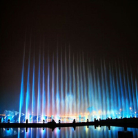Digital numerical water fountain control system, lighted water dancing fountain