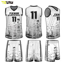 reversible custom sublimated basketball jersey set