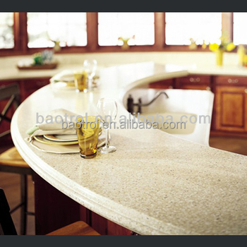 Texture Acrylic Solid Surface Polymer Kitchen Countertops