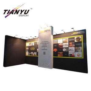 Professional aluminum dye sublimation printing full color floor standing cosmetic pop up showroom display system