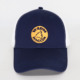 Custom navy white flexfit cap with embroidery, fitted hats baseball cap