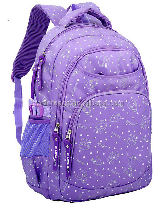 cute good printing school bag backpacks for high school