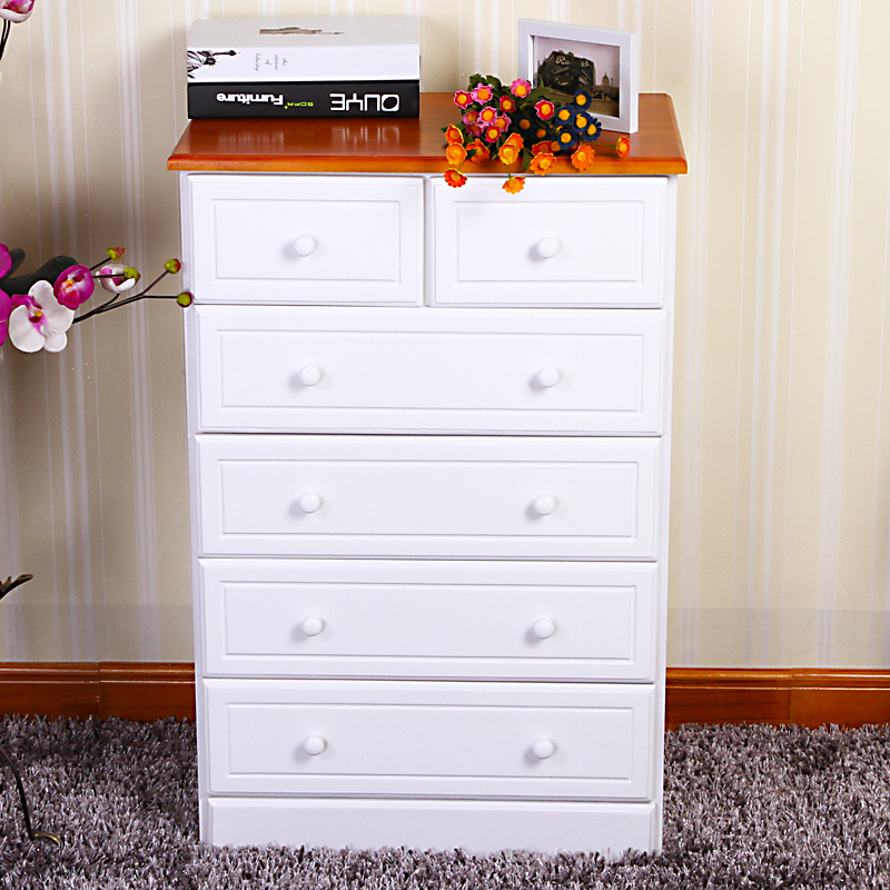 modern style white wooden drawer chest/chest of 6 drawers