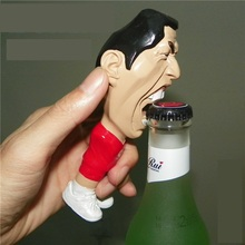 2016 Free shipping 3D stereoscopic Suarez World Cup souvenir beer bottle opener gift ideas