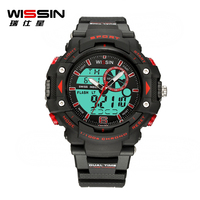 Wissin Waterproof Sports Military Shock Luxury silicone led watch