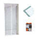 Curtain window mesh magnetic hands free fly mosquito bug insect screen