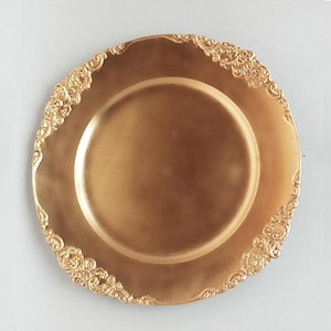 Wholesale Cheap Plastic Rose Gold Wedding Charger Plate