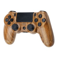Customized water transfer wooden shell for ps4 controller shell caese