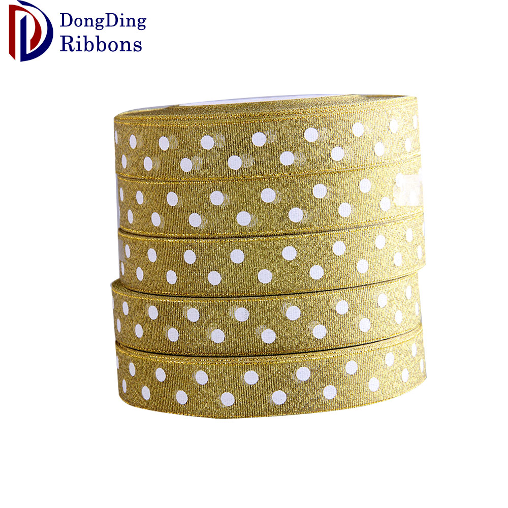 "Wholesale high quality 1-1/2"" soild silver color Metallic Ribbons"