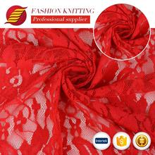 Latest design indian embroidered lace fabrics fancy polyester european lace fabric for wedding dress