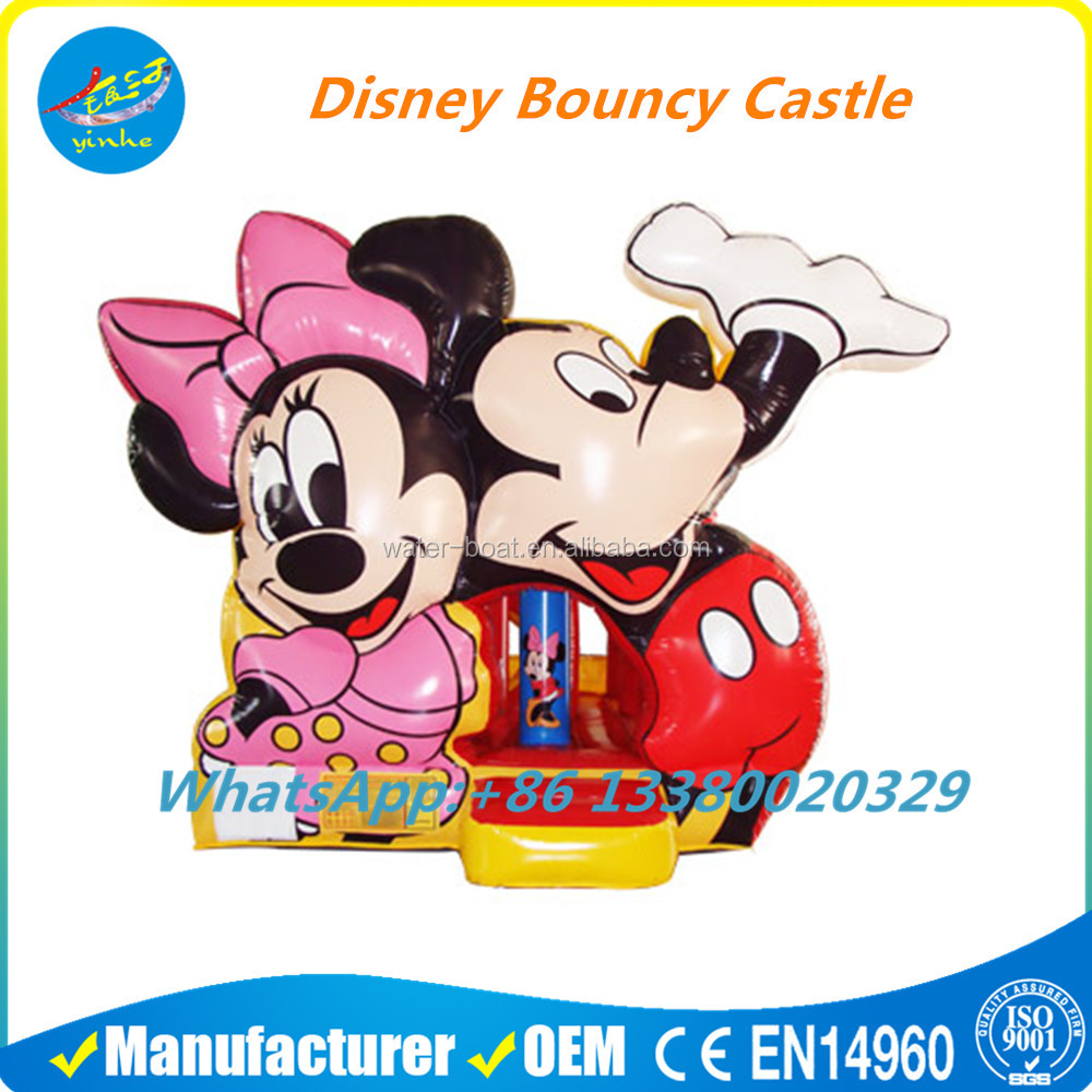 Children's Outdoor Inflatable Mickey Mouse Bounce House Castle