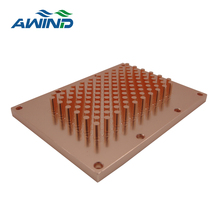 Custom copper pin fin heatsink for device