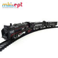 Plastic battery operated railway train toy with sound &light