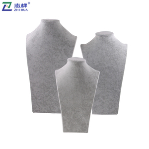 ZHIHUA brand Customized Ice flannelette composite board necklace stands Necklace Earring Jewelry Display Stand