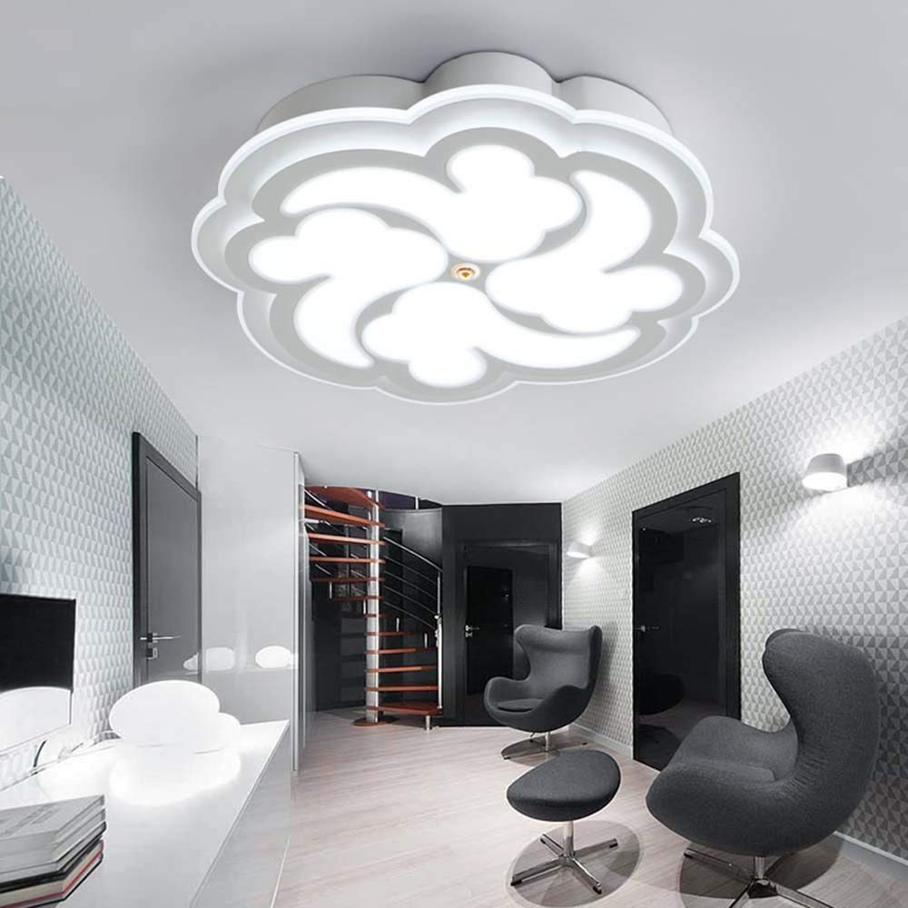 DIDIDD Ceiling light- simple and modern creative led ultra-thin circular acrylic ceiling light bedroom living room study ceiling light (size, Light color optional) --home warm ceiling lamp
