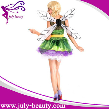 With Dragonfly Wings Sexy Simple Anime Cosplay Costume For Women