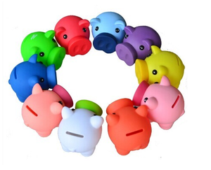 Factory direct supply free sample eco-friendly pvc material piggy coin bank money box