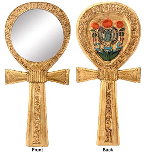 Ebros Small Crux Ansata Egyptian Golden Ankh Djed Hand