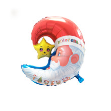 Customized mylar balloons Christmas theme decoration inflatable foil moon balloons
