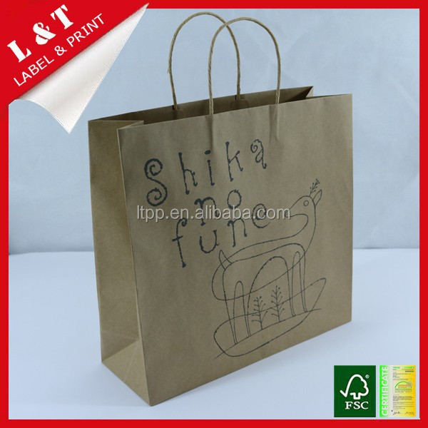 Kraft paper packaging bag for food