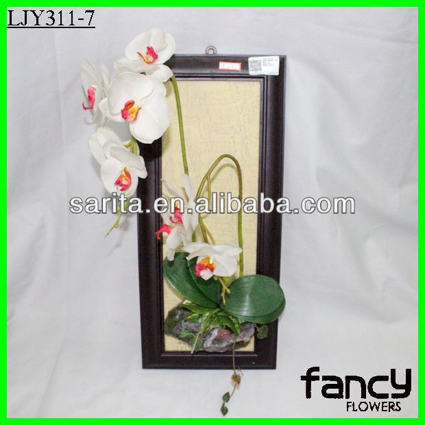 Wall hanging artificial flowers phalaenopsis orchids for home decoration
