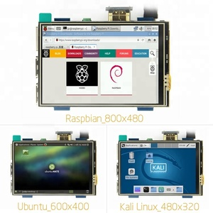Resolution Adjustable Raspberry Pi 3 Model B 480x320 3.5 inch Touch Screen LCD Monitor TFT Display 600x400 800x480 3.5inch