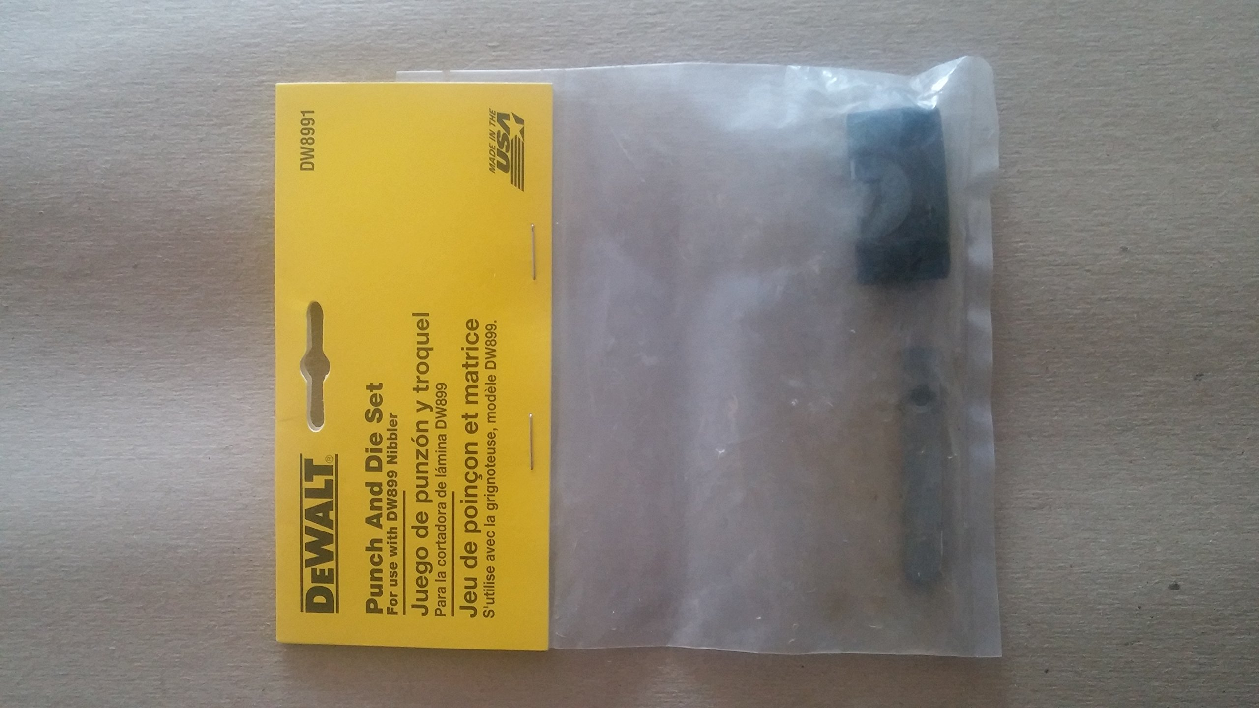 DEWALT DW8991 Punch and Carbide Die Set for the DW899 Nibbler