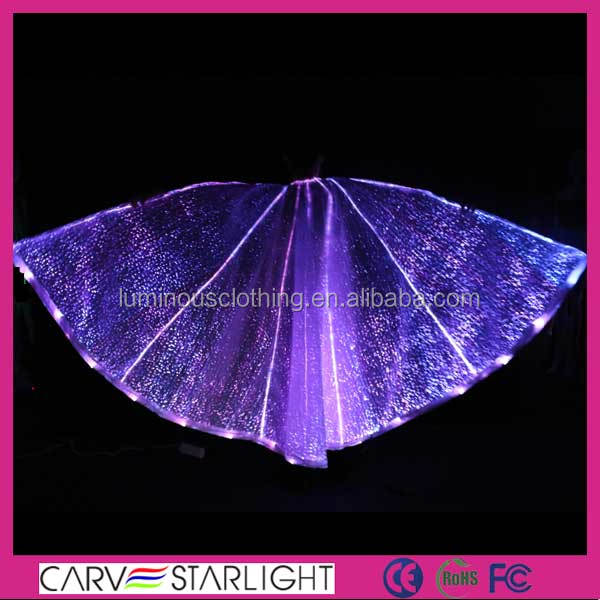 New Arrival Fibre Optic Lighting Luminous Dance Wing