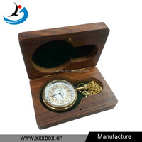 Antique wooden pocket watch box for sale
