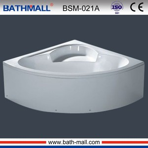 Hot corner apron bathtub with seat SS framework for adults