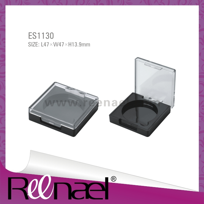 Blush case square eyeshadow case with clear lid cosmetic packaging compact powder case