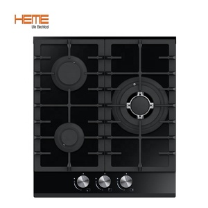 3 burner gas stove glass top built in gas hob