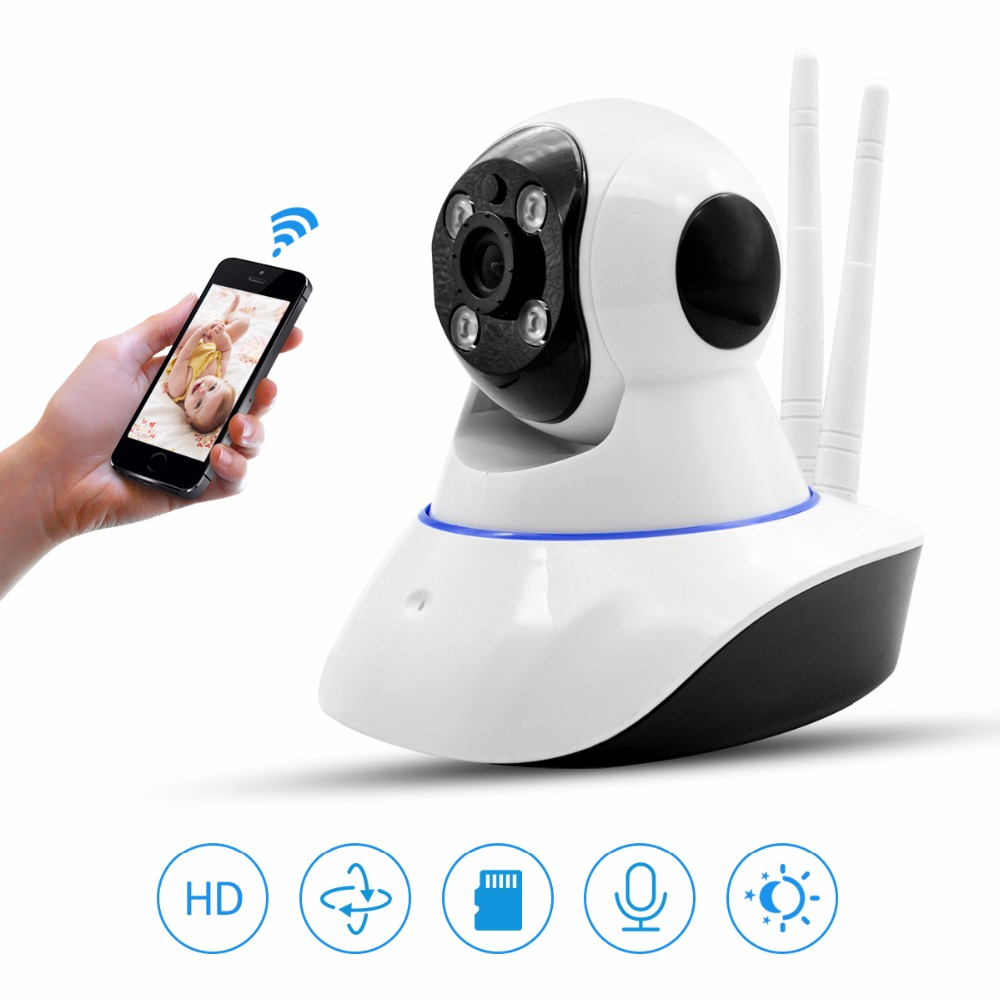 2 Antenna Wireless Home Security Camera Wifi CCTV Camera